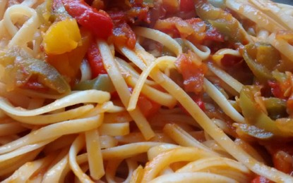 Espaguete picante colorido