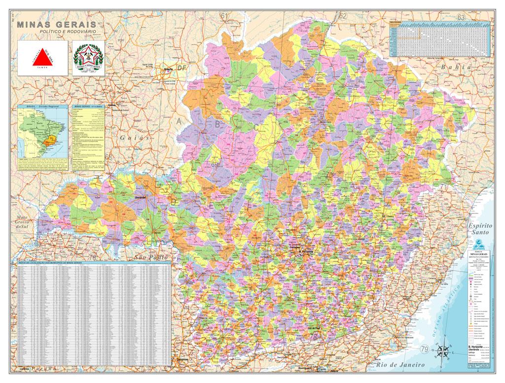 Municípios, População e distância de BH em quilometragens