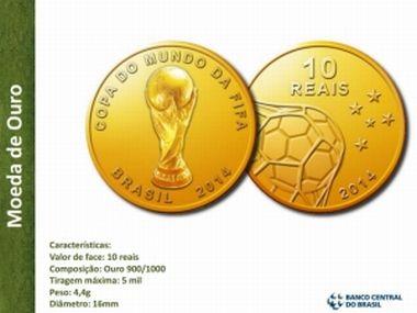 Banco Central lança moedas comemorativas da Copa do Mundo